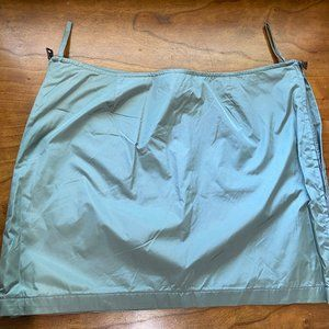 Prada Nylon Mini Skirt Light Green